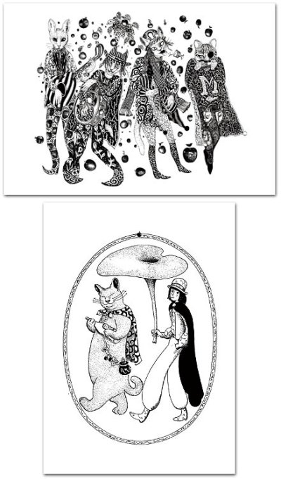 画像1: ますむらひろし初期モノクロ作品・ポスターセット