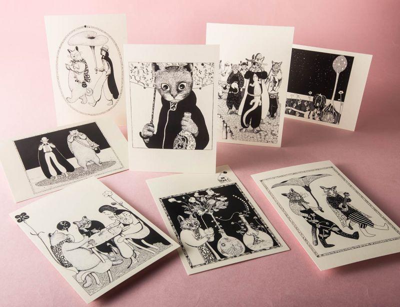 画像1: ますむらひろし青猫島 ポストカードAEセット8種類 (1)