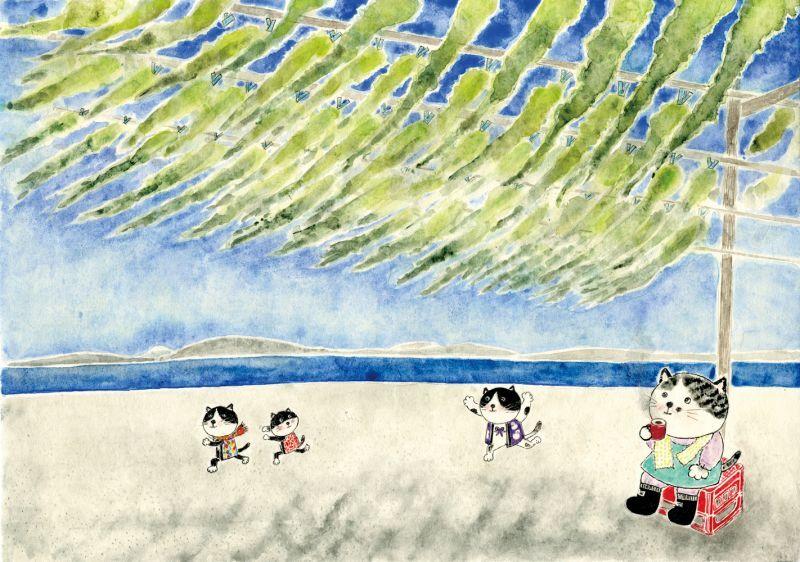 画像1: なつかしこよみ2月原画「春の訪れ」 (1)