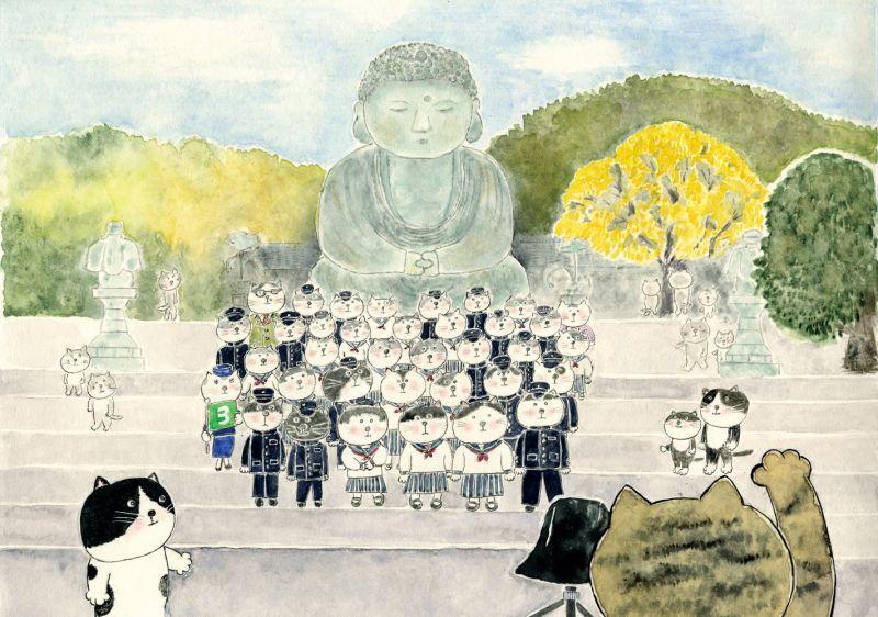 画像1: なつかしこよみ11月原画「修学旅行」 (1)